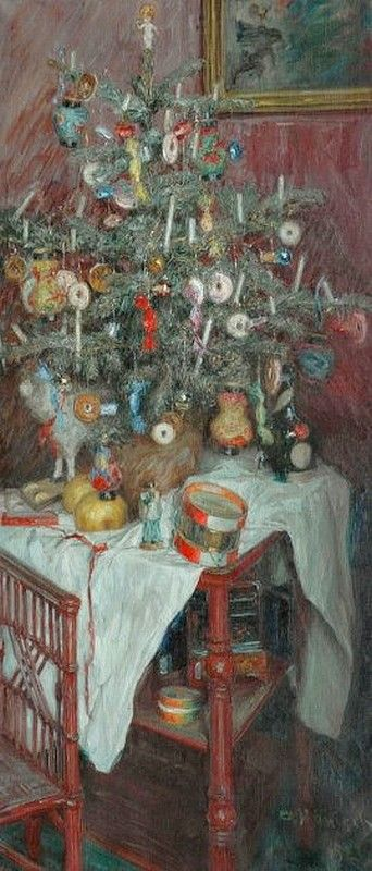 Alois Hänisch (1866-1937) — Christmas Spirit (342x800)