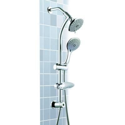 Wonderful Showerhead Jade Bath   Python Dual Head Handshower On Rail   CO8310   Home  Depot Canada