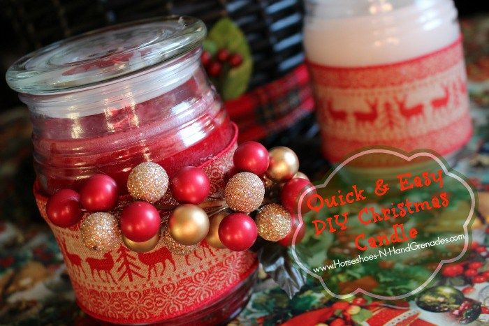 Quick Easy Diy Christmas Candle Gifts Crafts And Easy Diy