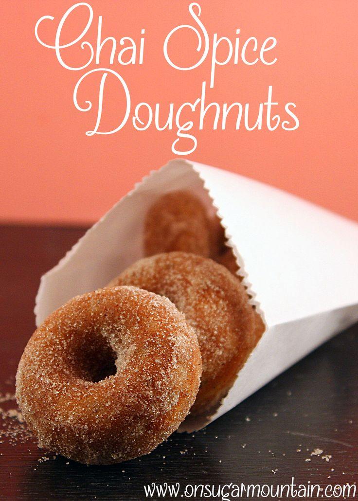 Chai Spice Doughnuts - On Sugar Mountain | Sweet Tooth | Pinterest