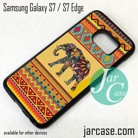Aztec Elephant (2) Phone Case for Samsung Galaxy S7 & S7 Edge
