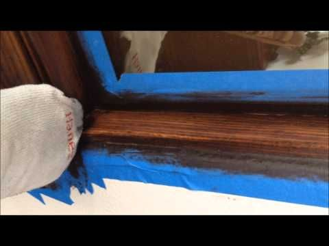 How to Stain an {UGLY} Oak Banister Dark – All Things Thrifty