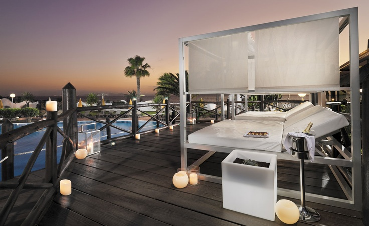 Coco Loco Terrace at dusk #hotel #h10 #h10hotels