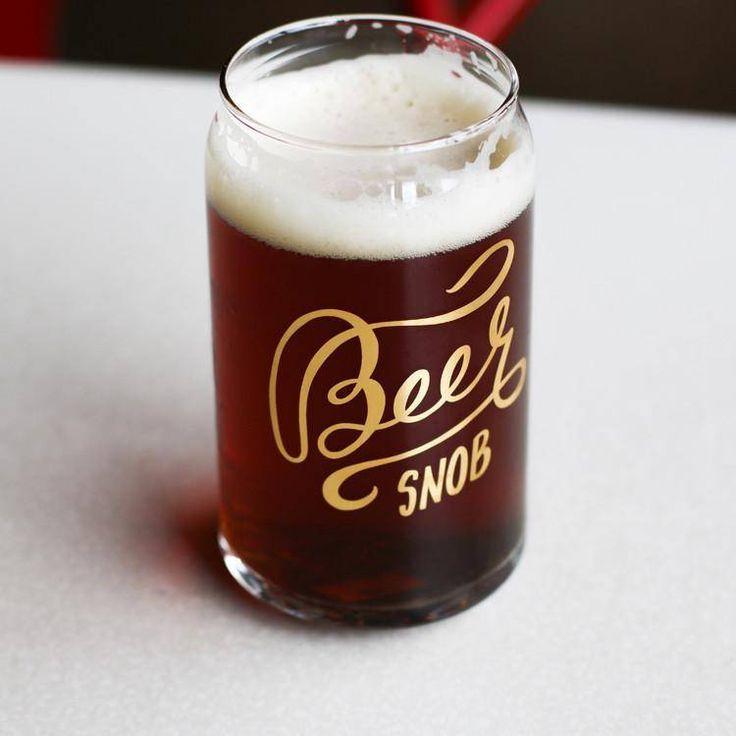Beer Snob Glass - $12.00