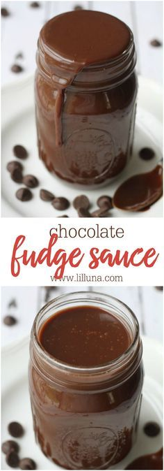 The BEST Homemade Chocolate Fudge Sauce - great on any dessert and especially ice cream!