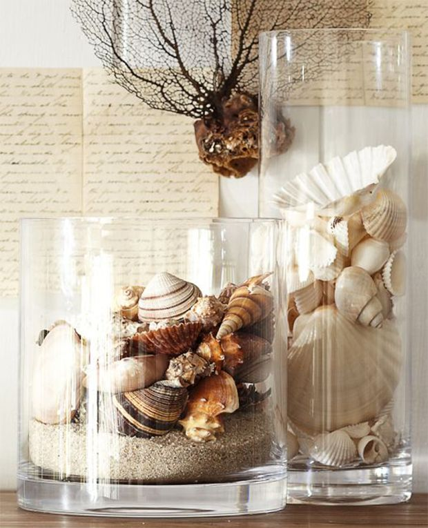 25 best ideas about sea shells decor on pinterest shell for Bathroom decor vases