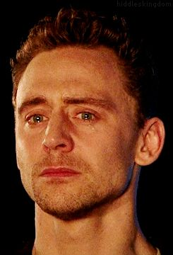 On a scale of Kim Kardashian to Jensen Ankles how attractive is your crying face... Tom Hiddleston. Damn that's off the charts!