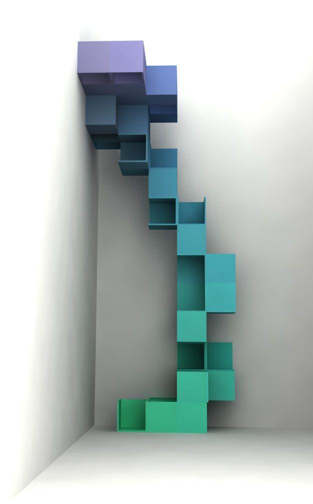fast wie #Malerei: Großartiges #Regal, sieht fast aus wie eine #Zimmerpflanze :) von Studio Besau-Marguerre