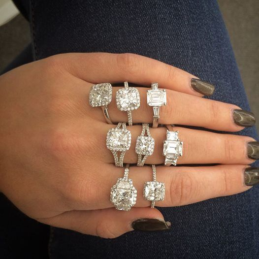 A handful of Norman Silverman diamond engagement rings is a great way to start…