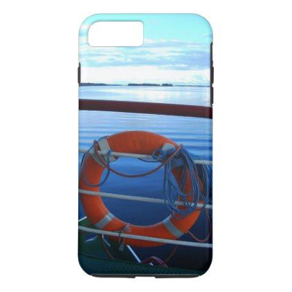 lifebuoy image with idyllic lake in background iPhone 8 plus/7 plus case - image gifts your image here cyo personalize