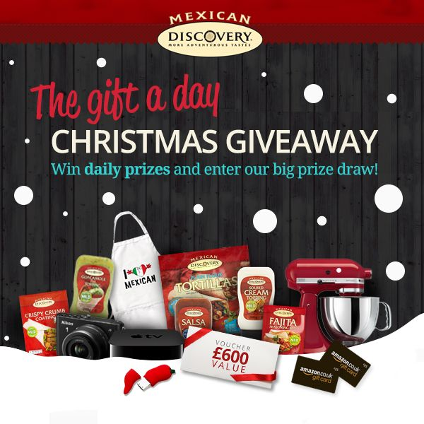 Enter Discovery Foods' Gift a Day Christmas Giveaway for your chance to win £600 worth of shopping vouchers. Find out more.