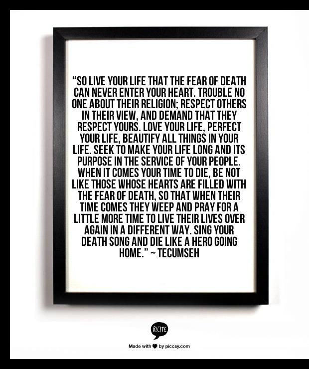 Act Of Valor Tecumseh Poem Tecumseh Pinterest Home