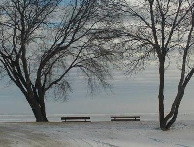 View of Lake Winnipeg at Winnipeg Beach in January 2012