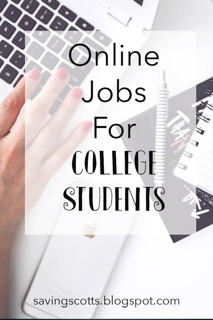 Great list of online jobs for college students - there's something for everyone here! - Saving Scotts
