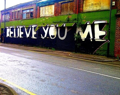 Believe You Me - Kid Acne Urban Art #Sheffield