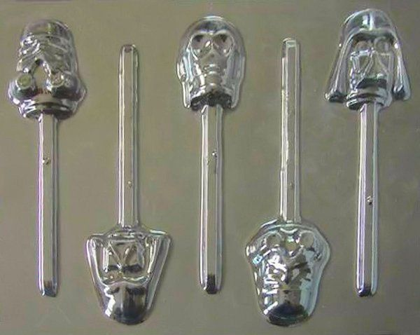 Star Wars Faces Group Lollipop Chocolate Candy Mold #203 -