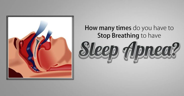 #Sleepapnea is characterized by several episodes per hour of breathing cessation. A person with mild sleep apnea stops breathing, on average, five to 15 times per hour, while a person with severe sleep apnea may quit breathing up to 120 times per hour, or twice every minute.