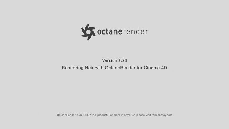 Rendering Hair with Octane Render for Cinema 4D