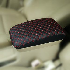 Black Jeep Grand Cherokee Leather Center Armrest Protector