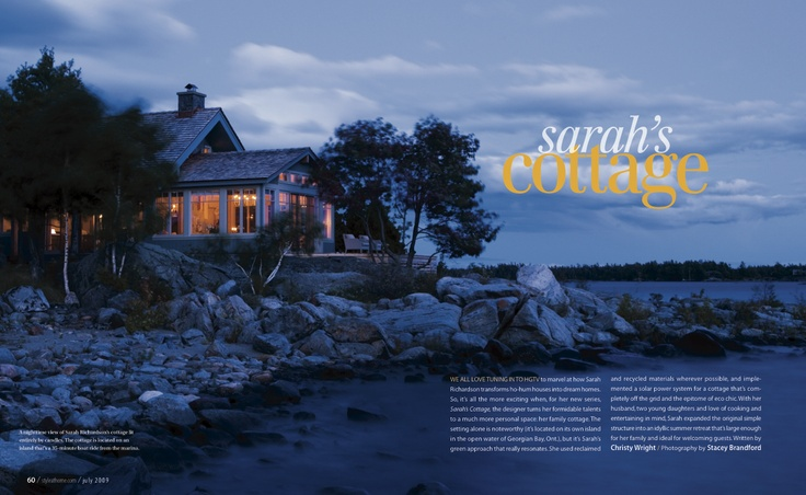 "Silver winner in Homes & Gardens. ""Sarah's #Cottage"" by Stacey Brandford, Susan Rogers and Melissa Geurts published in #Style at Home, 2009."