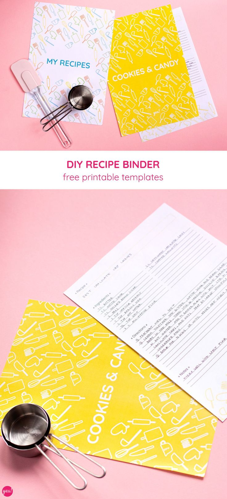 Diy recipe book with a free recipe binder printable