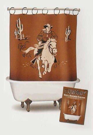 Western Cowboy Home Decor | Cowboy Shower Curtain Western Bathroom Home Decor - Hunch