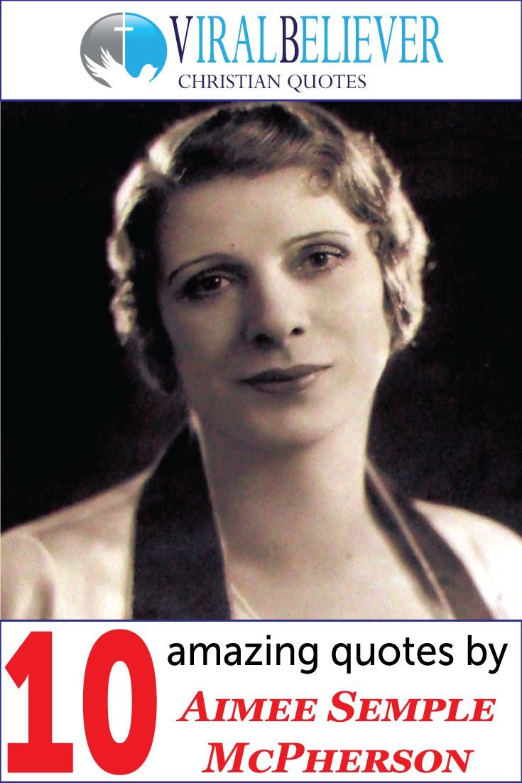 Aimee Semple McPherson, also known as Sister Aimee, was a Canadian-American Los Angeles–based evangelist and media…