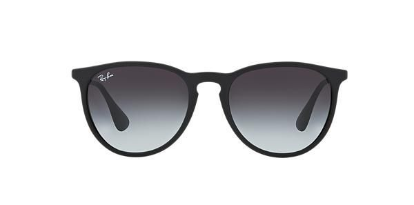 e7aaf36ebc425 Ray-Ban Erika pilot black nylon sunglasses with light grey dark grey gradient  lenses. Come in a designer-stamped case. - Sale! Up to 75% OFF!