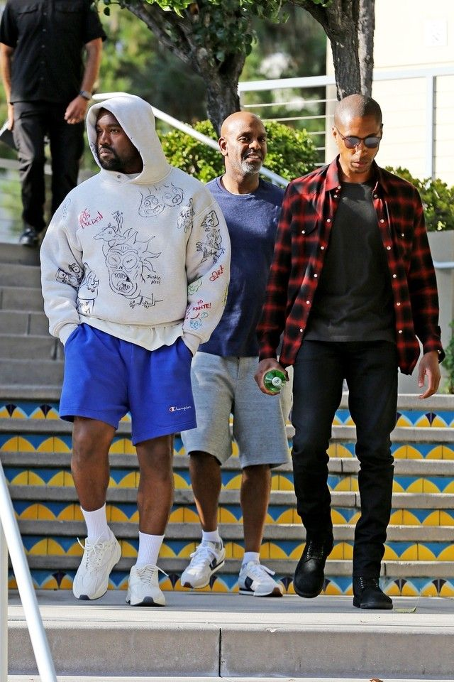 Kanye West Rick And Morty Doodle Hoodie On Looklive Kanye West Outfits Kanye West Style Yeezy Fashion