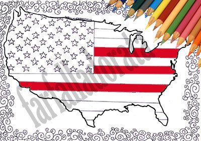Art & Collectibles Drawing & Illustration Digital indipendence day july 4 usa map united states map usa coloring page usa download map flag usa coloring the flag kids activities geography for kids usa freedom usa proud july 4th party Stati uniti america bandiera mappa da colorare 4 luglio indipendenza adulti bambini scuola stampare stampabile digitale usa download pagina