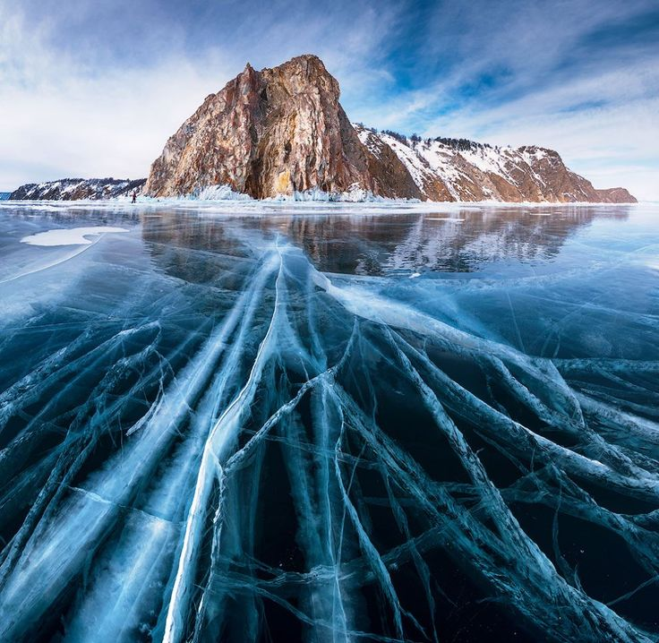 One fifth of all fresh water in the world is located in just one lake; Lake Baikal. in southern Siberia in Russia. It's situated between in Irkutsk Oblast