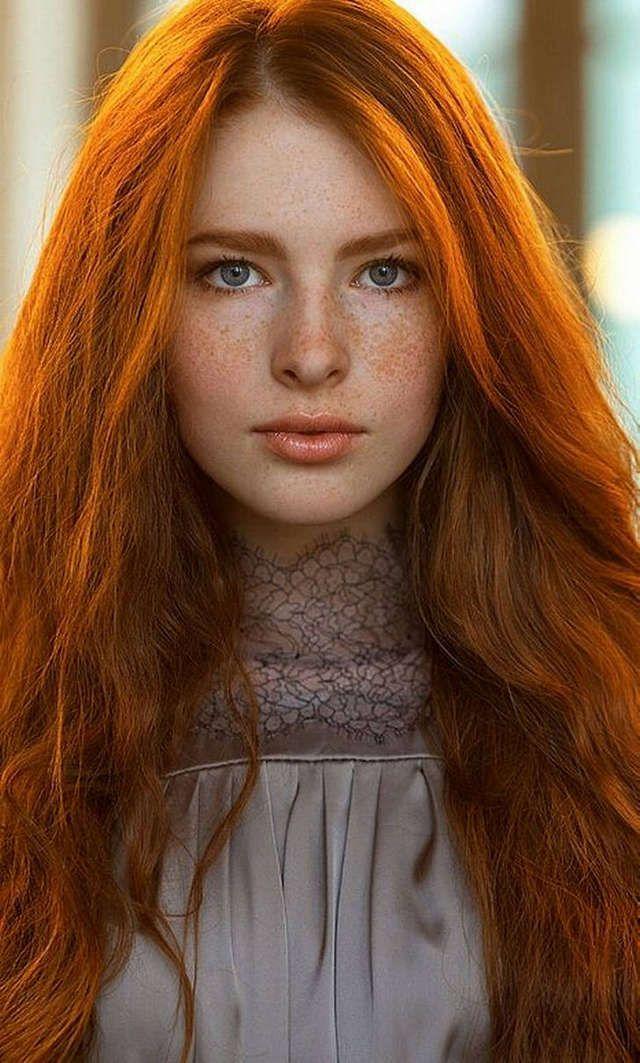 Lesbian redhead mons man