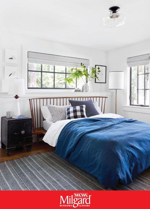 Black Bedroom Windows In 2020 Guest Bedroom Decor Bedroom Decor Home