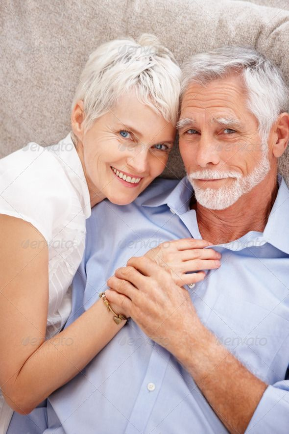 A mature old couple