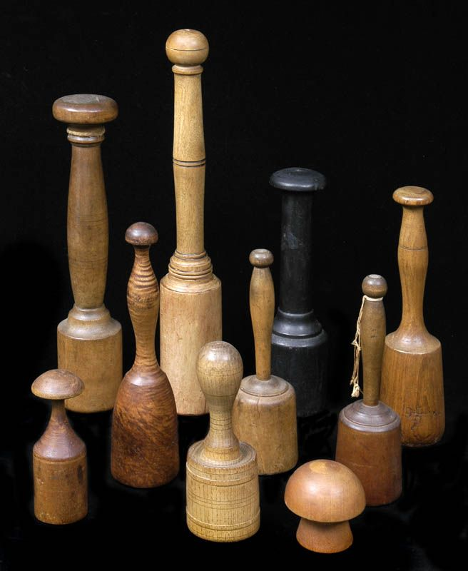 Collection of carver's mallets. So, all these mallets or mashers that we thought were for using in the kitchen, are for wood carvers?!!!
