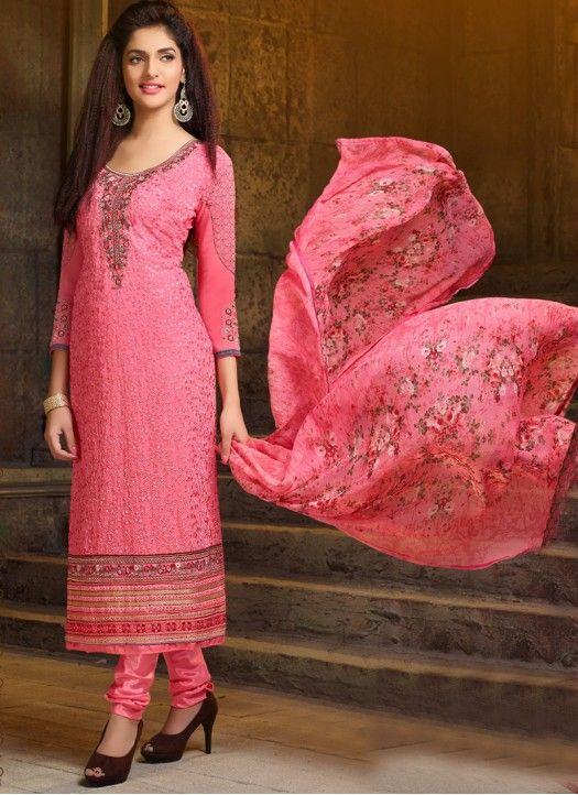 Ladies Flavour presents new embroidered anarkali suit #salwarkameez #salwarsuit #dress #shopping #clothing