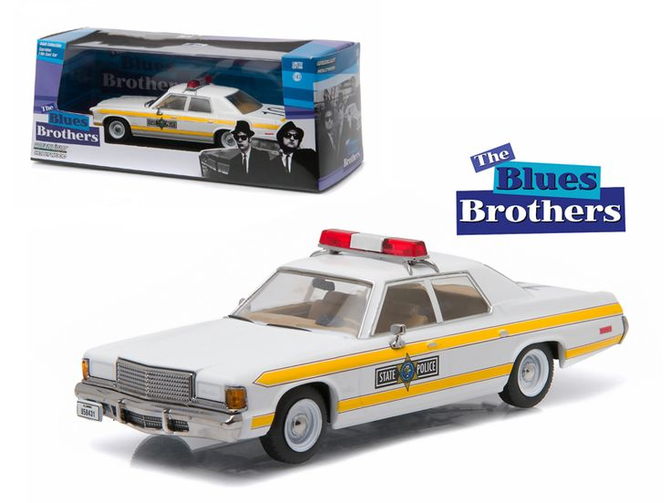 1977 Dodge Royal Monaco Illinois State Police Blues Brothers Movie (1980 ) 1/43 Diecast Model Car by Greenlight - Brand new 1:43 scale diecast car model of 1977 Dodge Royal Monaco Illinois State Police Blues Brothers Movie (1980 ) die cast car model by Greenlight. Rubber tires. Brand new box. Limited Edition. Detailed interior, exterior. Comes in plastic display showcase. Dimensions approximately L-5 inches long.-Weight: 1. Height: 5. Width: 9. Box Weight: 1. Box Width: 9. Box Height: 5. Box…