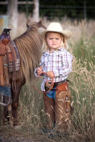 cowgirl and her shetland pony. <3 <3