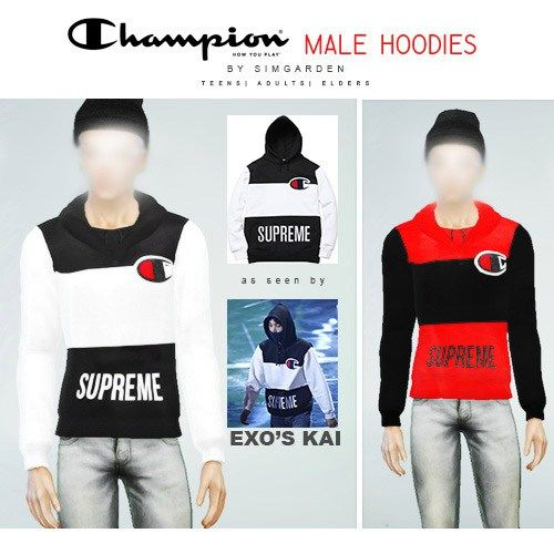 a77a58fee34 The Sims 4 Supreme Hoodies by SimGarden DOWNLOAD ID  SC4-140212 Category  Tags  Clothing