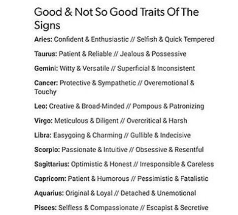These are spot on for almost everyone I know