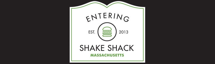 Shake Shack... the walls are adorned with wood from a Holyoke paper mill!!!