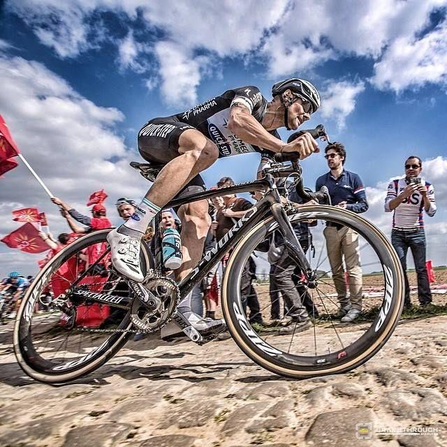 Tom Boonen at Paris Roubaix 2014.