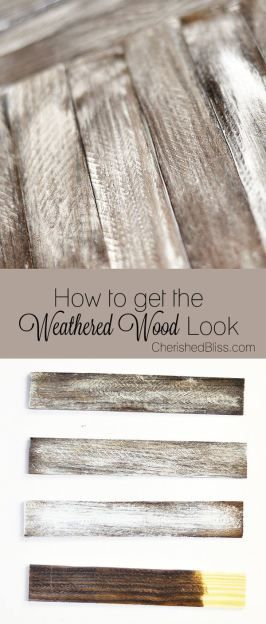 Do you love the weathered wood furniture look in your home? Try these DIY tips to make new wood look OLD with this tutorial on how to Weather Wood.