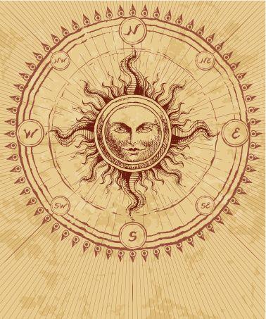 sun moon compass rose - Google Search