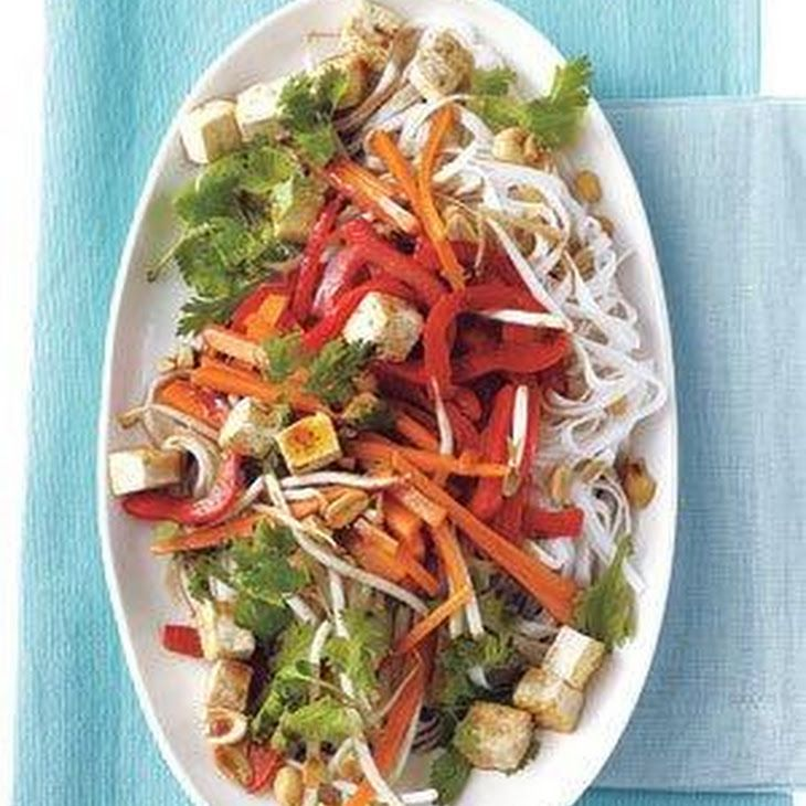 Stir-Fried Rice Noodles With Tofu and Vegetables Recipe Main Dishes ...