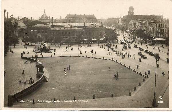 Muslingeskallen på Rådhuspladsen 1931