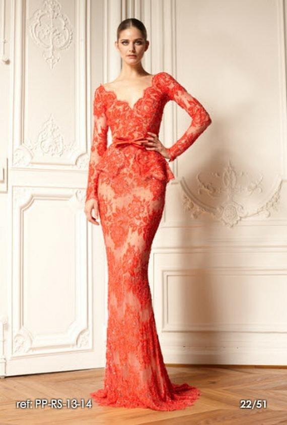 Peplum Red Lace