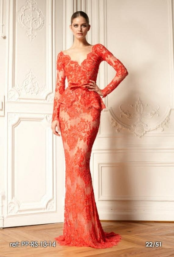 Peplum Red Lace