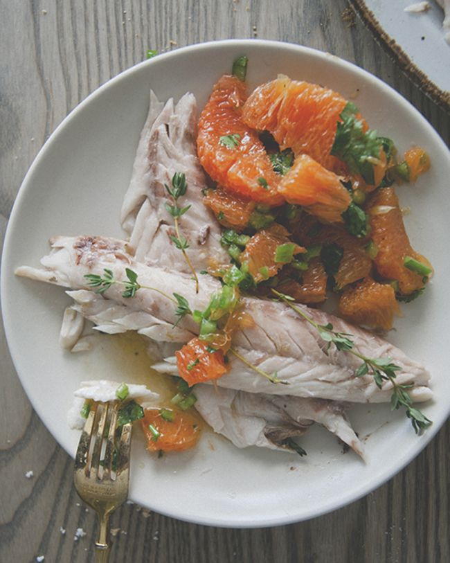 SALT ROASTED FISH WITH SPICY ORANGE SALSA  // The Kitchy Kitchen