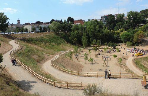 El parc de la Font del Roure amb el poble al fons - Foto: Ajuntament de Masquefa